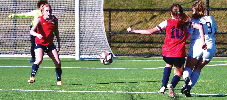 Outdoor Girls Soccer match